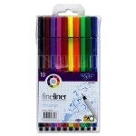Markers Fineline Hexagrip 10 Pack Proscribe