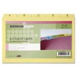 Index Guide Cards 20cm x 12.5cm A-Z