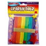 Lollipop Sticks 42 Coloured