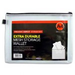 Document Mesh Wallet A4 Extra Durable Clear