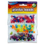 Beads Plastic 36g Pack Crafty Bitz