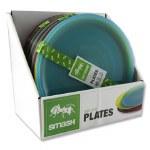 Smash Plastic Plates Bright Coloured 4 Pack