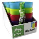 Smash Plastic Tumblers 4 pack Coloued