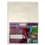 Punched Pockets 10 Pack for refillable Display Book