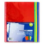 Punched Pockets Coloured 50 Pack