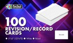 Record Cards 5X3 Ruled White Perfect Stationery