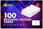 Record Cards 6X4 Ruled White Perfect Stationery