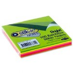 Post It Stickie Notes Fluorescent Size 75mm x 75mm 100 Pack