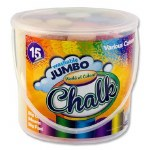 Sidewalk Chalk 15 Coloured Sticks World of Colour