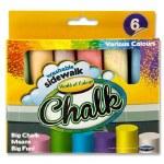 Sidewalk Chalk 6 Pack World Of Colour