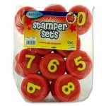 Foam Stamper Set Numbers 10 piece