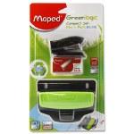 Stapler Set Maped Green Logic