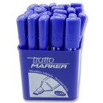 Permanent Blue Marker Tratto Chisel Tip