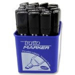 Permanent Black Marker Tratto Chisel Tip