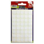 Labels White Round Dots 200 Pack