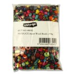Crafty Bitz Large Wooden Beads 454g