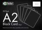 A2 Card Black 50 Pack 160g  Perfect Stationery