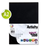 A2 Card 160gsm Black 50 Sheets