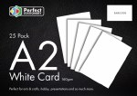 A2 Card White 25 Pack 160g Perfect Stationery