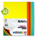 A2 Card 160gsm Assorted 100 Sheets