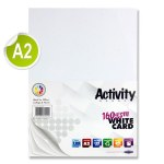 A2 Card 160gsm White 100 Sheets