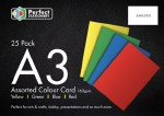 A3 Card Assorted Colours 25 Pack 160g Perfect Stationery