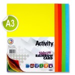 A3 Card Rainbow 160g 200 Sheets