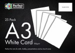 A3 Card White 25 Pack 160g Perfect Stationery