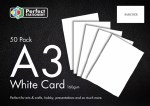 A3 Card White 50 Pack 160g Perfect Stationery