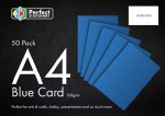 A4 Card Blue 50 Pack 160g Perfect Stationery