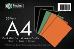 A4 Card Halloween 50 Pack 160g Perfect Stationery