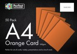 A4 Card Orange 50 Pack 160g Perfect Stationery