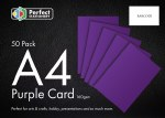 A4 Card Purple 50 Pack 160g Perfect Stationery