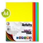 A4 Card Rainbow Jumbo Pack 500 Sheets 160gsm