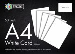 A4 Card White 50 Pack 160gsm Perfect Stationery