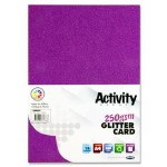 A4 Glitter Card 10 Sheets 250gsm Purple