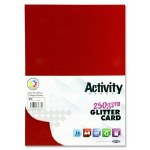 A4 Glitter Card 10 Sheets 250gsm Red