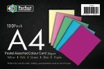 A4 Paper Pastel Colours 100 Pack 80g Perfect Stationery