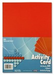 A4 Card Red 50 Sheets 160g