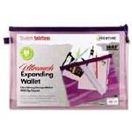 Mesh Folder B4+ Ultramesh Expanding Wallet Grape Juice Student Solutions