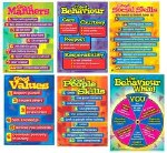 Behaviour Management Poster Set of 6 Posters 2nd to 6th Class and Lower Secondary Prim Ed