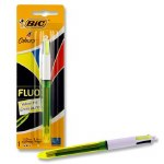 BIC 4 Colour Pen with FLUO