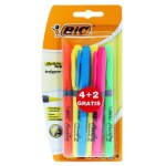BIC Grip Highlighters 4 + 2 Free