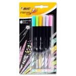 BIC Intensity Fineliner Pens 6 Pack Pastel