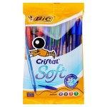 BIC Cristal Soft Touch Ballpoint Pens 10 Pack