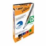 BIC Velleda Whiteboard Markers 1701 Bullet Tip 4 Pack