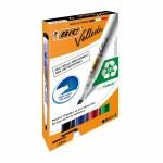 BIC Velleda Whiteboard Markers 1751 Chisel Tip 4 Pack