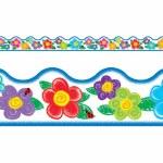 Border Crayon Flowers