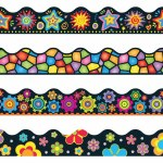 "Border Variety Pack 4 Designs 156"" Per Pack Brights on Black"
