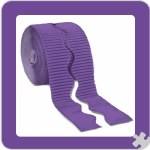 Bordette Scalloped Edge 15 M Purple